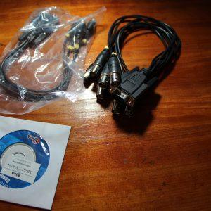 ציוד נוסף - כרטיס פנימי DVR בחיבור_PCI למחשב נייח 4 וידאו 4 סאונד