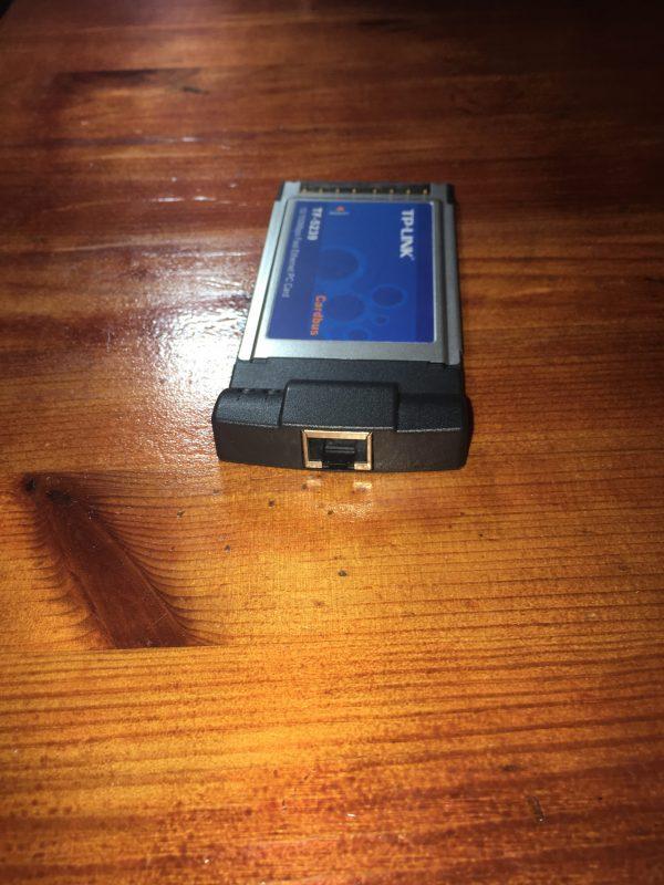 כרטיס רשת למחשבים ניידים ישנים_בחיבור PCMIA TP-LINK TF-5239